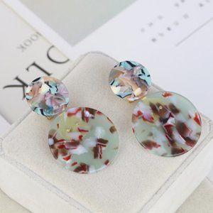 lele sadoughi Colorful resin circle earrings